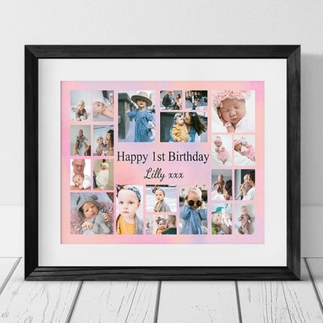22 Photo Collage 1st Birthday
