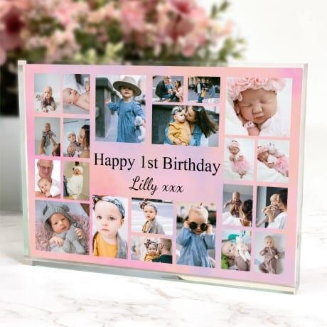 22 Photo Block Collage 1st Birthday