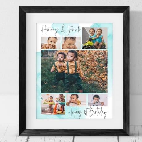 7 Photo 1st Birthday Collage