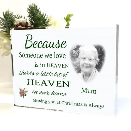 Personalised photo Remembrance Gift - Christmas