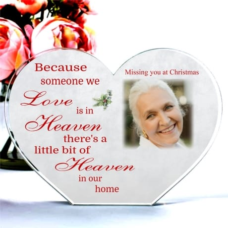 Personalised Christmas Heaven Heart Block