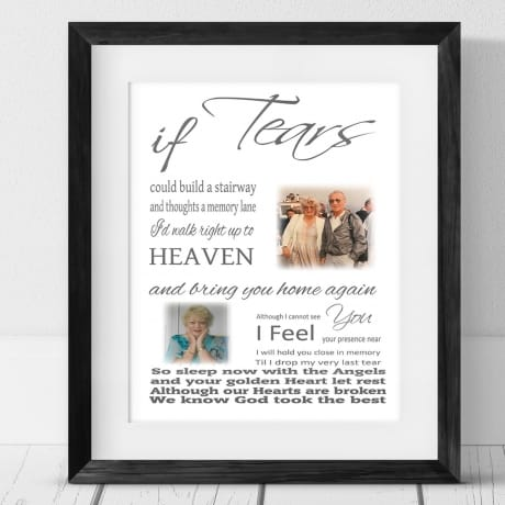 If tears could.. Frame, Plaque or Block