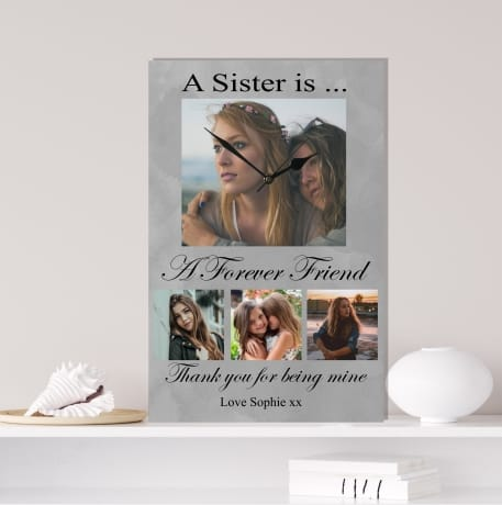 Personalised photo clock, Sister gift