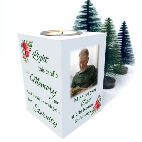 Tealight Holder - Missing you at Christmas