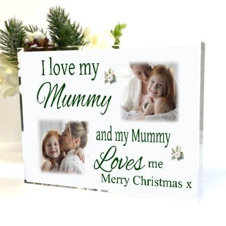 Love : Christmas Block Mum