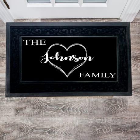 Personalised Luxury Love Doormat