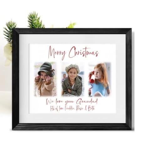 Christmas Photo Frame Collage Grandad
