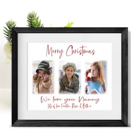 Christmas Photo Frame Collage Grandmother