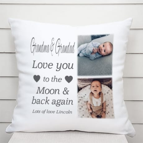 Personalised Cushion - Moon & back again