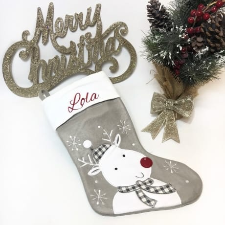 Embroidered Name Rudolph Stocking