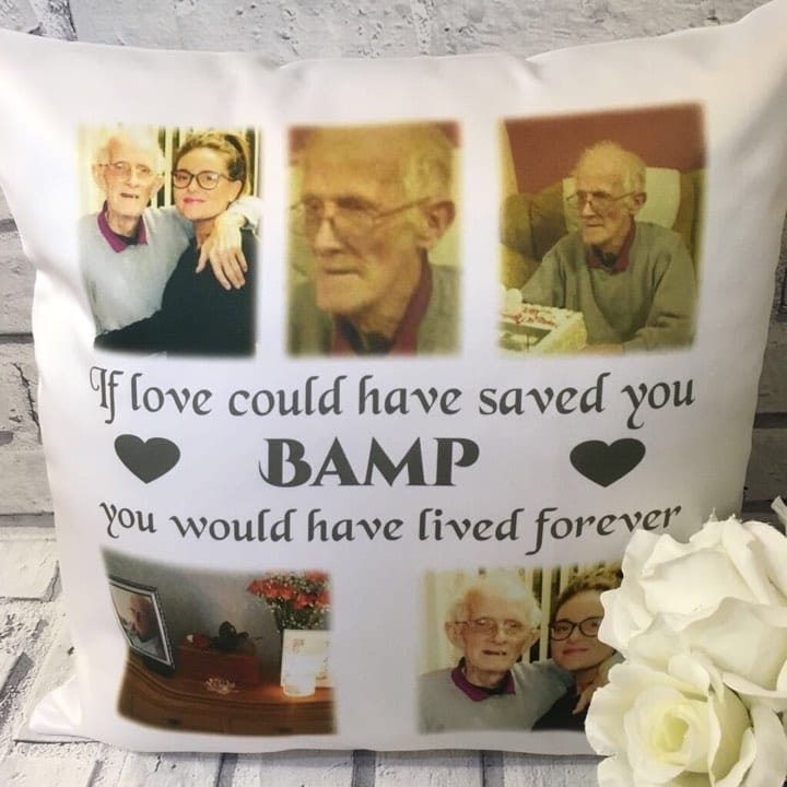 Personalised cushion - If love could have saved you