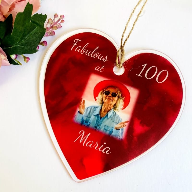 100th Birthday Heart