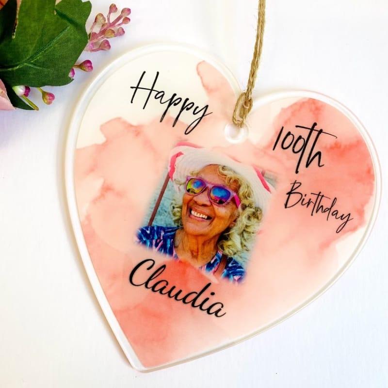 100th Birthday Hanging Heart