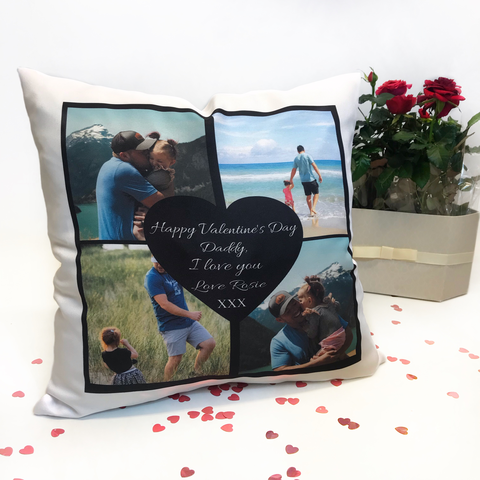 Personalised Valentine's Day Cushion - Daddy
