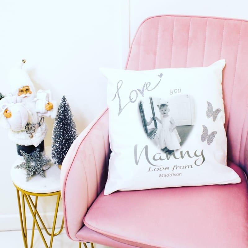 Personalised glitter cushion, add any name