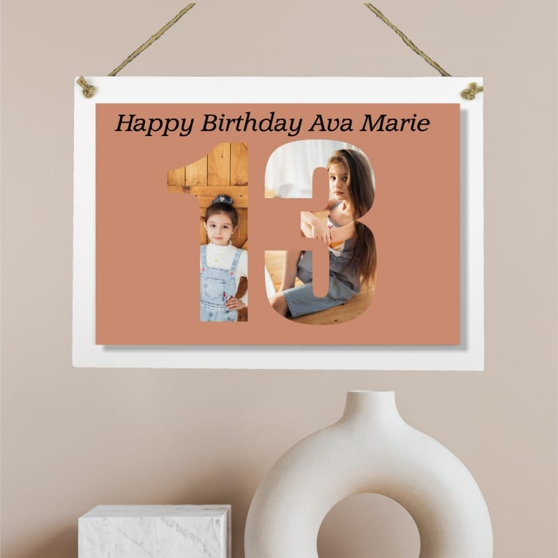 Personalised Deluxe Wall Signs - 13 Birthday