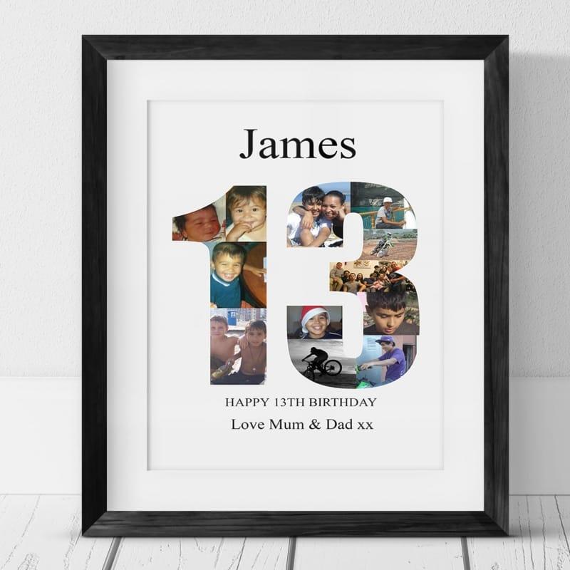 13th Birthday Photo Collage