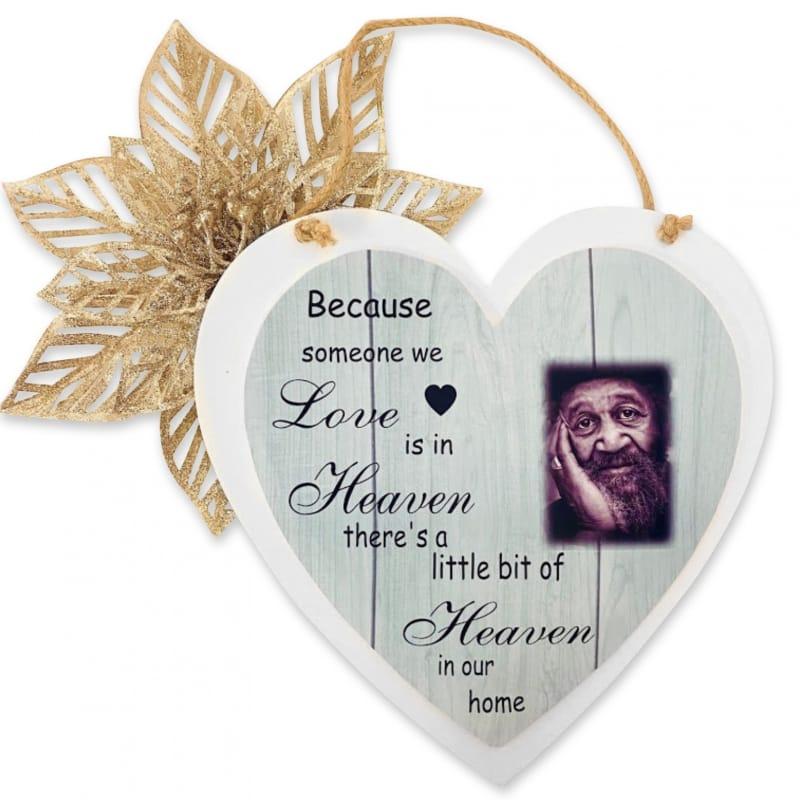 Personalised Deluxe Wooden Heart Home Memory Keepsake