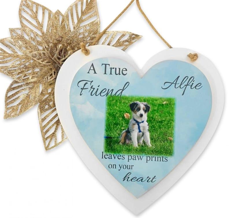 Personalised Deluxe Wooden Heart Pet Keepsake