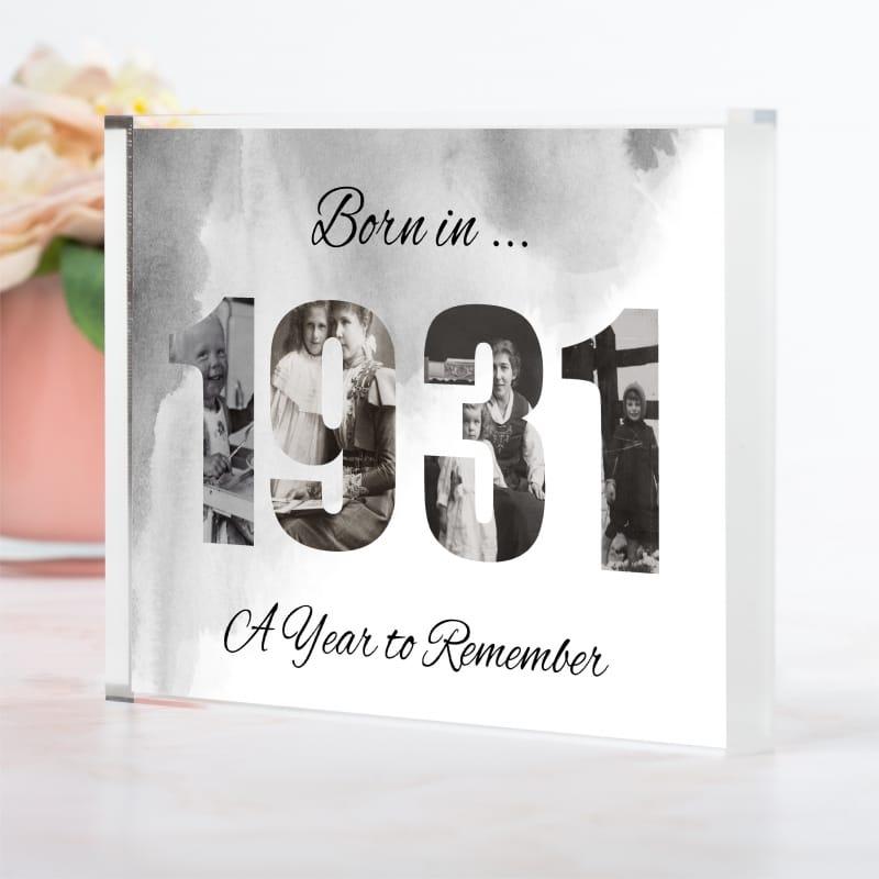 1931 Personalised Photo Block Collage