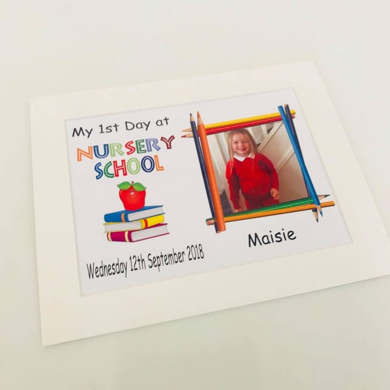 Personalised My First day at Nursery School