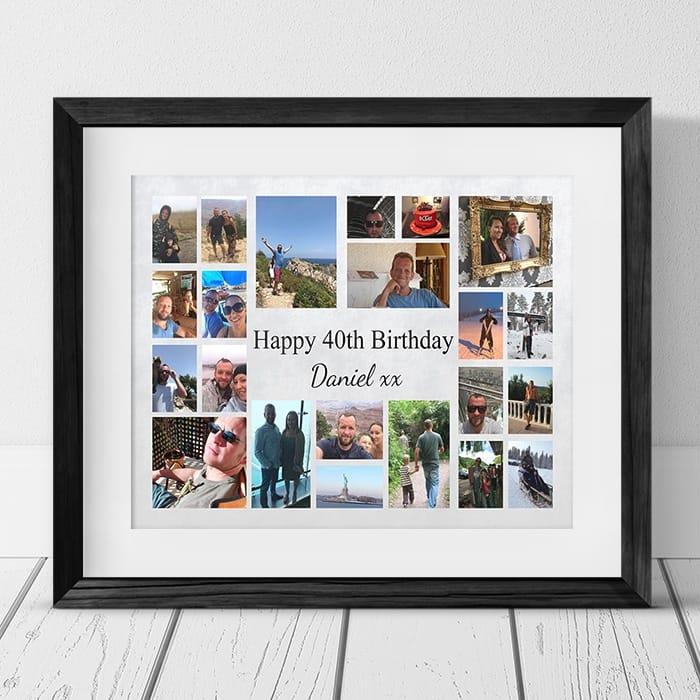 22 Photo Collage 40th Birthday