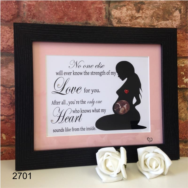 Personalised baby scan keepsake