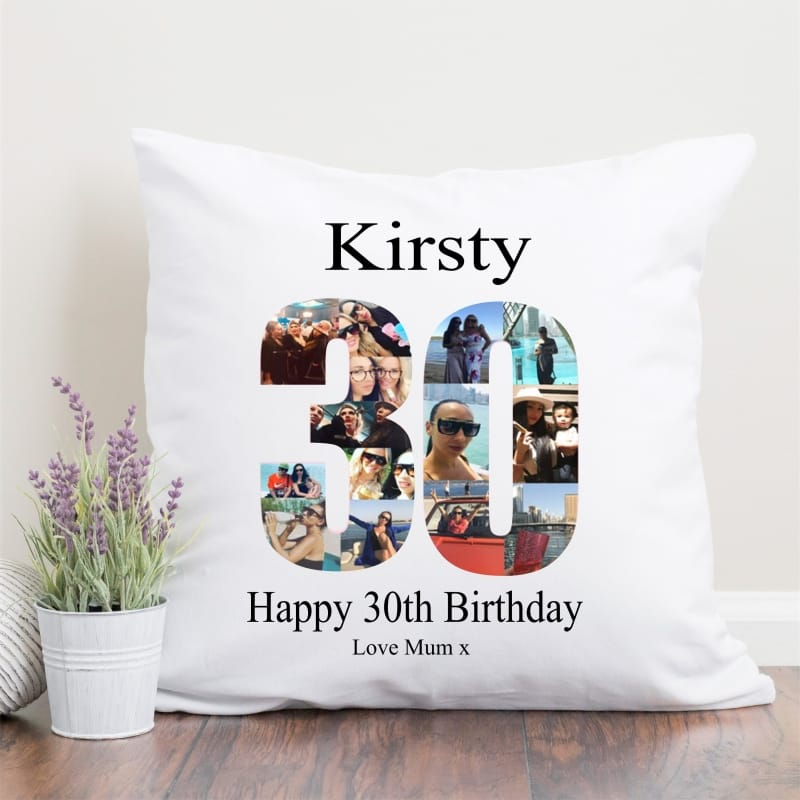 30 Birthday Photo Collage Cushion