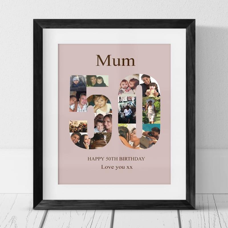 50 Birthday Photo Collage