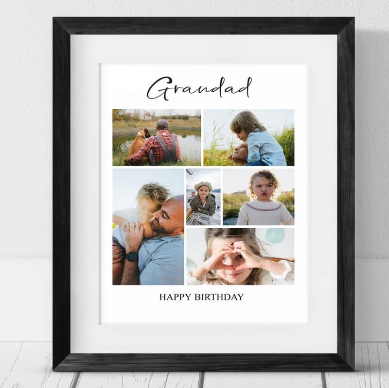 6 photo Birthday Collage - Grandad