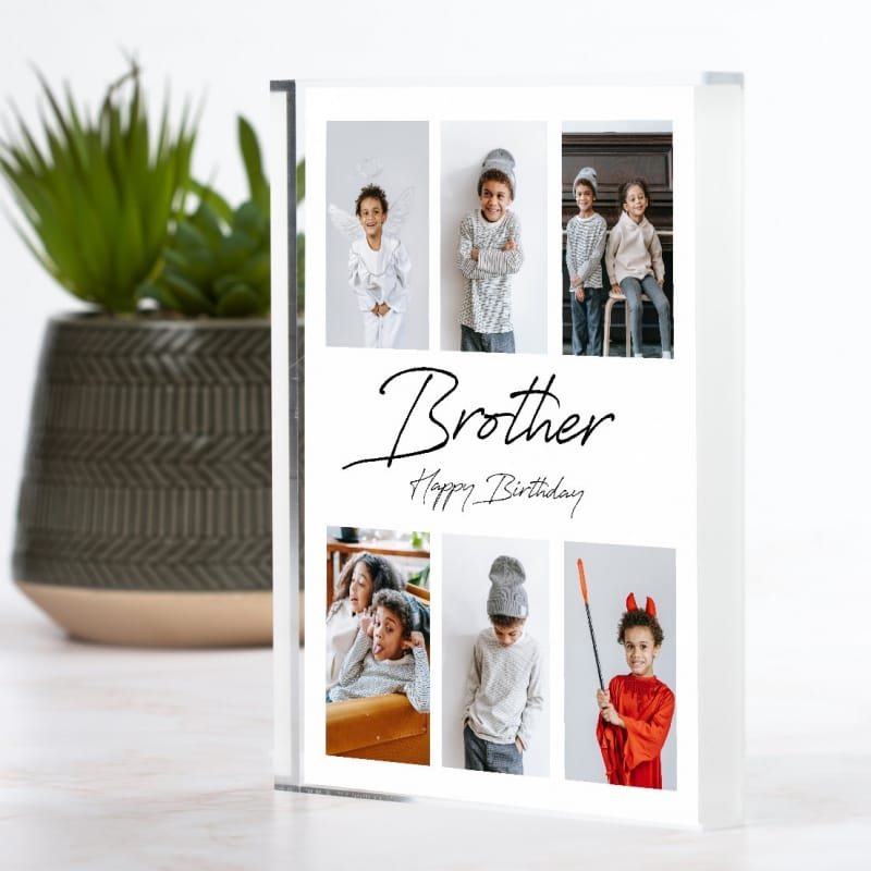 6 Photo Personalised Block Collage - Brother