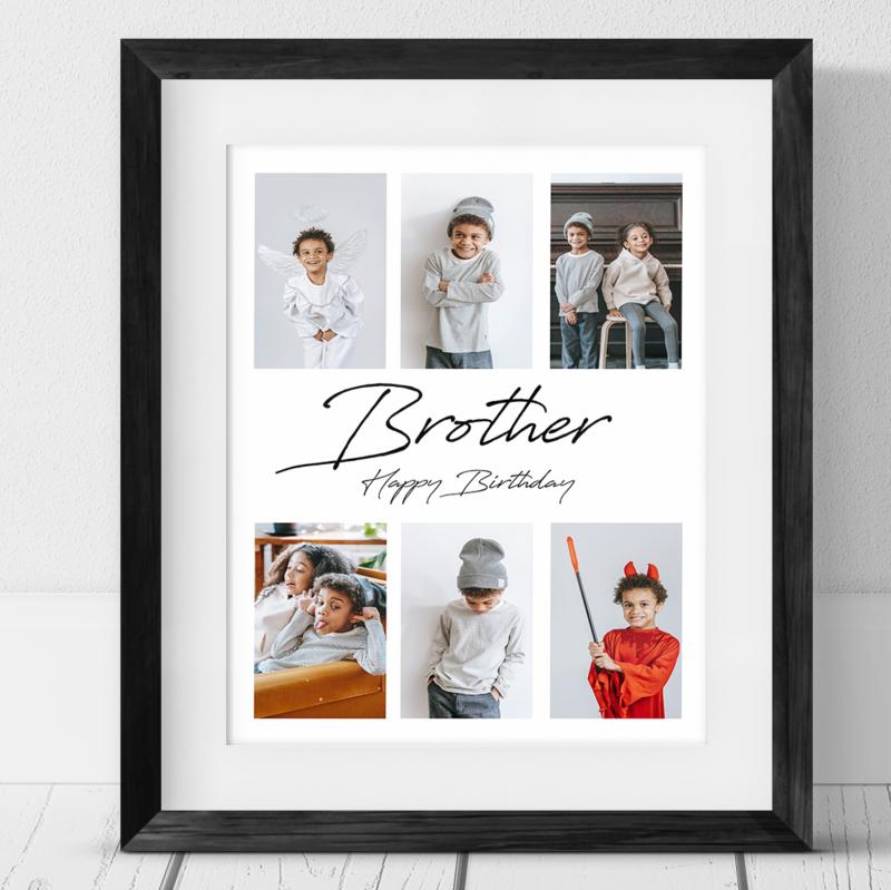 6 photo Birthday Collage - Brother