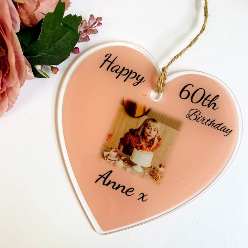 60th Birthday Heart