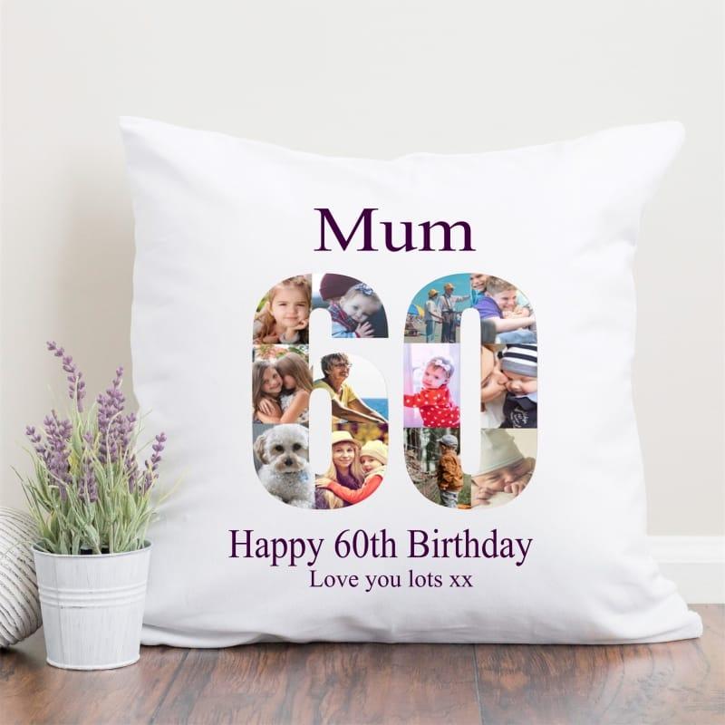 60 Birthday Photo Collage Cushion