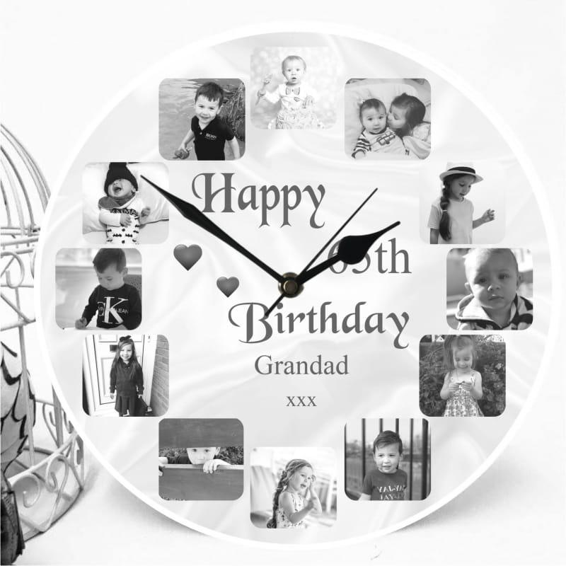 Personalised Clock - 65th Birthday