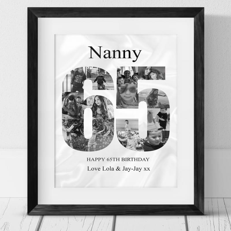 65 Birthday Photo Collage