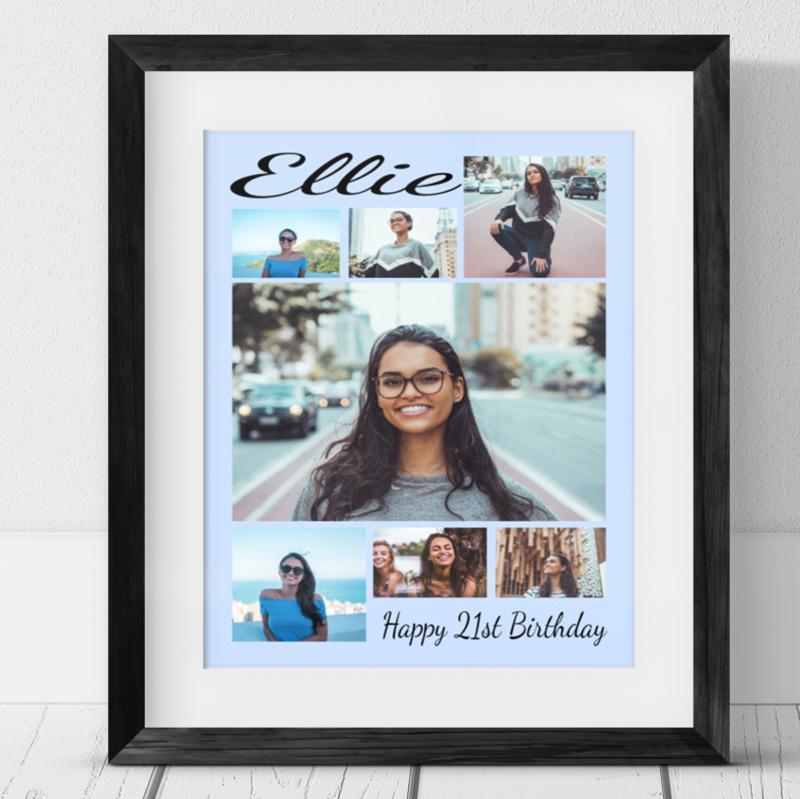 7 Photo Collage -21st Birthday