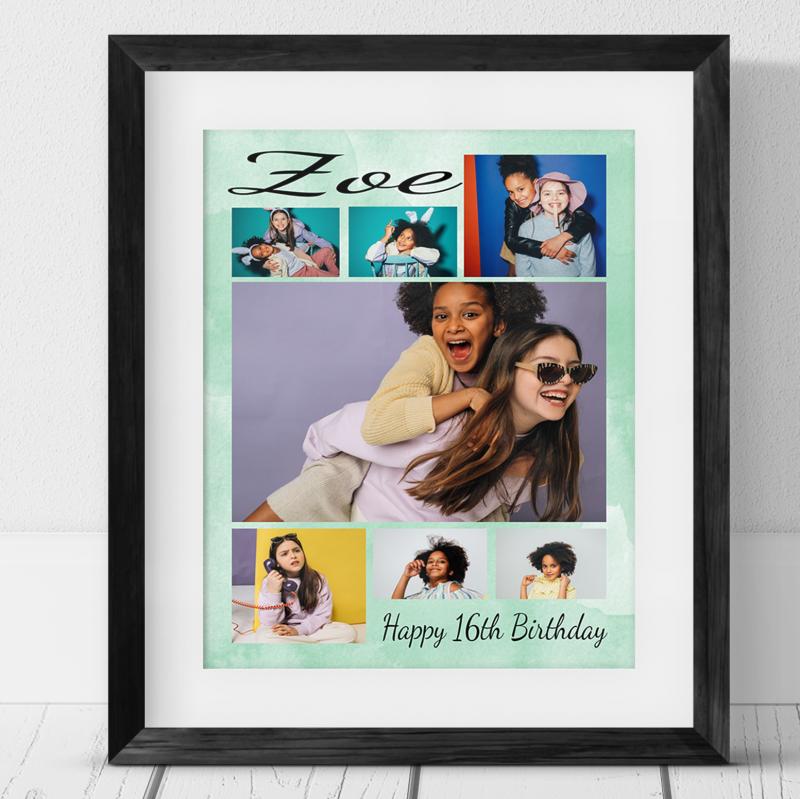 7 Photo Collage -16th  Birthday