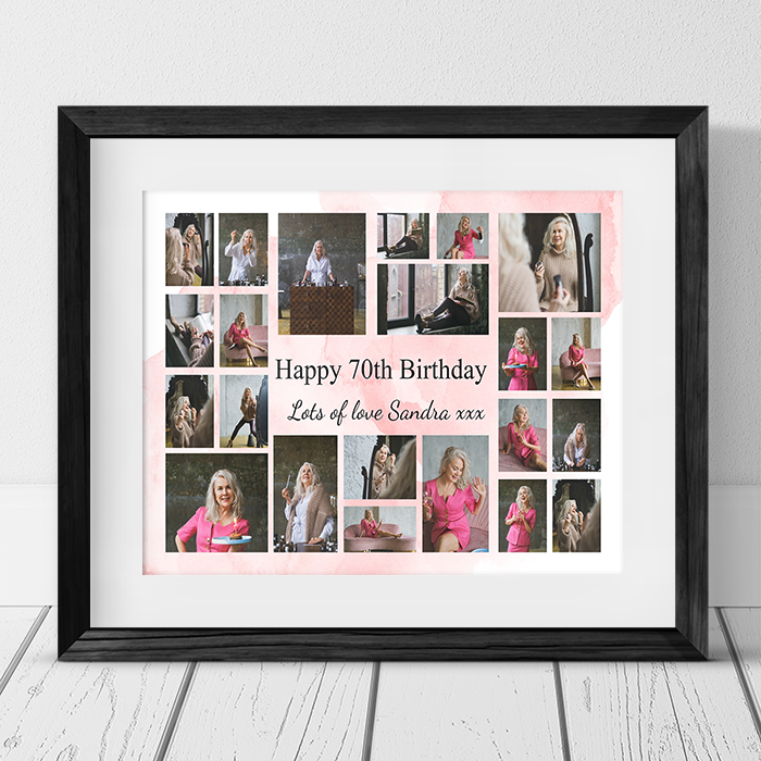 22 Photo Collage 70th Birthday