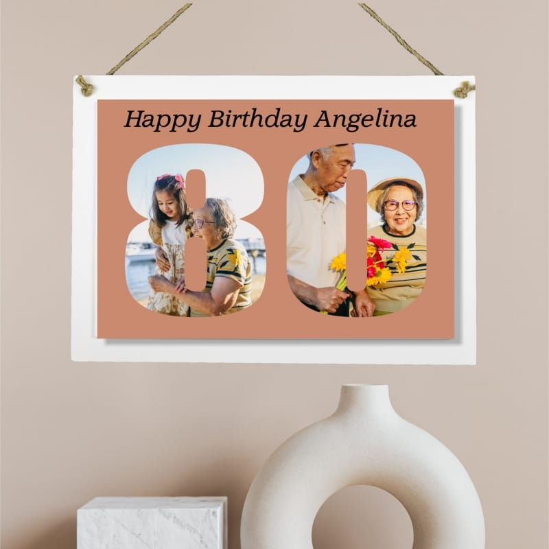 Personalised Deluxe Wall Signs - 80 Birthday