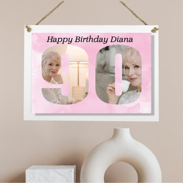 Personalised Deluxe Wall Signs - 90 Birthday