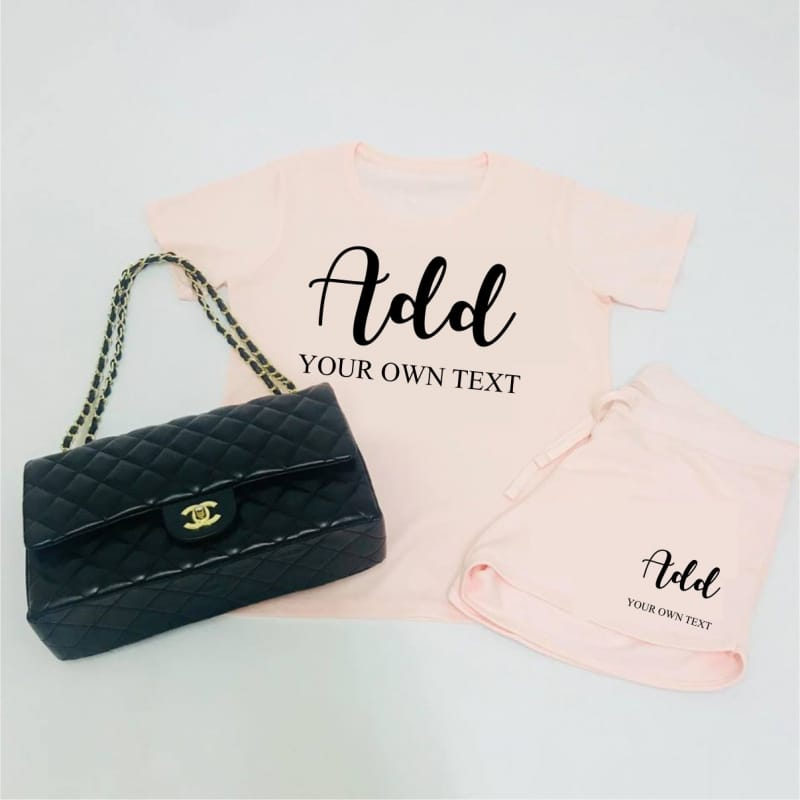 Add your own text lounge wear