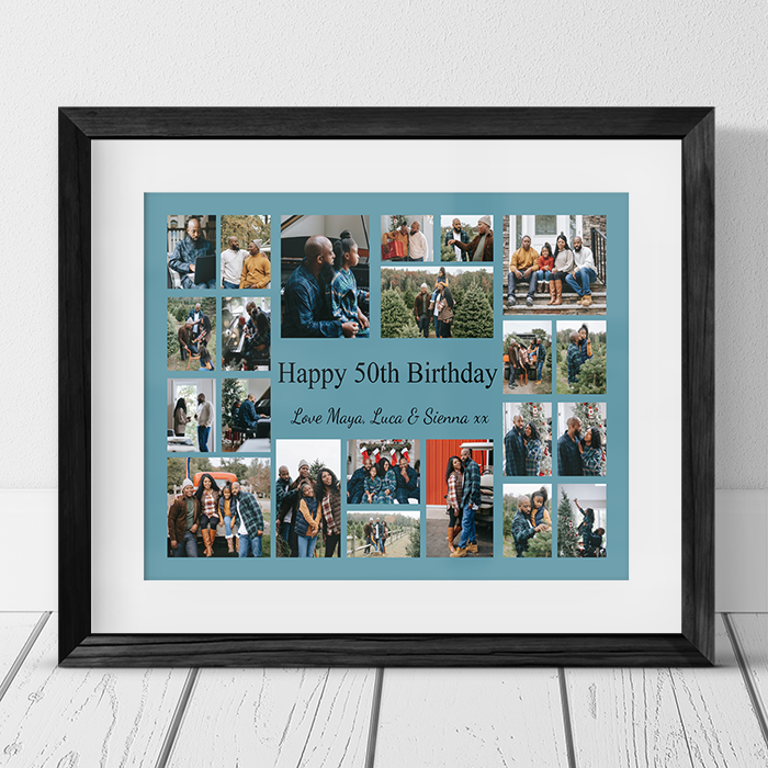 22 Photo Collage 50th Birthday