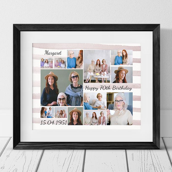 Age 70 Birthday photo collage