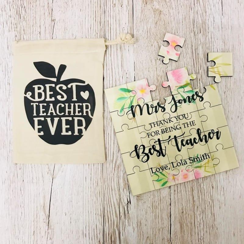 Best Teacher gift / Personalised jigsaw