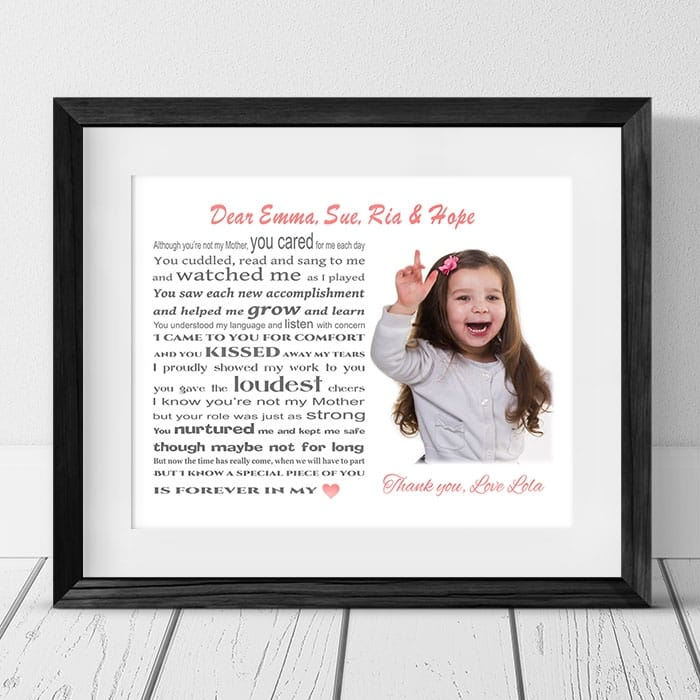 Childminder Personalised Thank You Gift