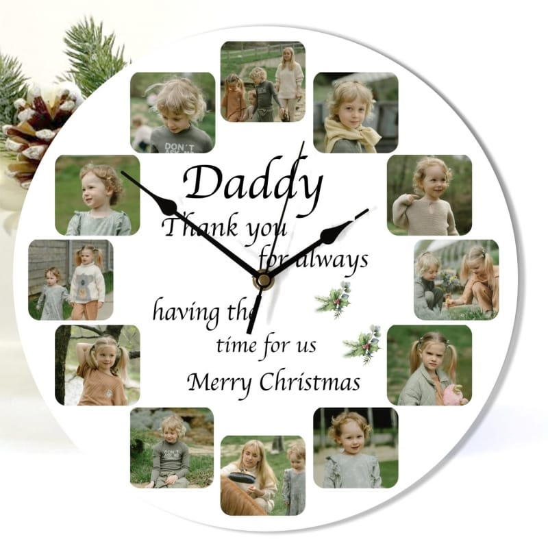 Christmas Dad clock - Having the time for us