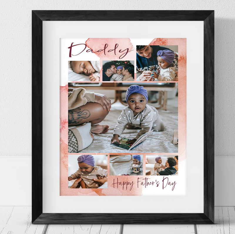 7 Photo Father's Day for Daddy Collage