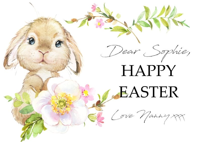 Personalised Easter Post Card 2