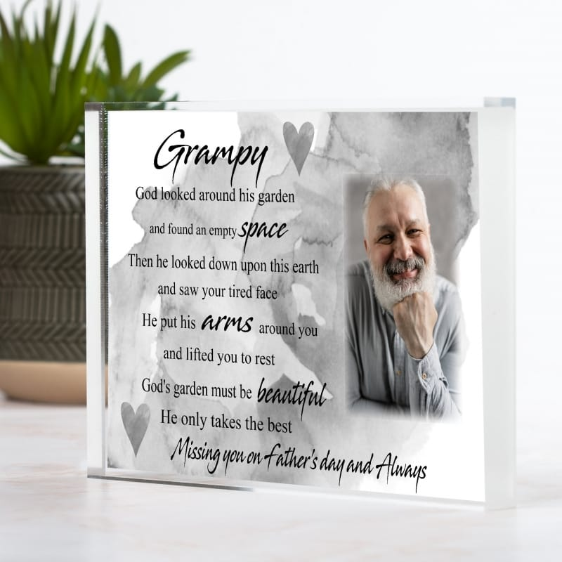 Missing you on Father's Day - God's Garden Photo Block
